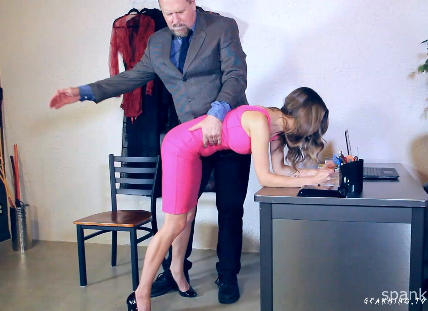 Chrissy Maried Punished By Boss Day 1 - Spankedcallgirls - Full HD