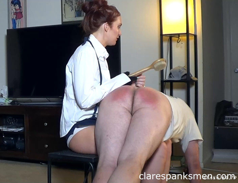 Wife Teaches Husband Manners - Clarespanksmen - Full HD