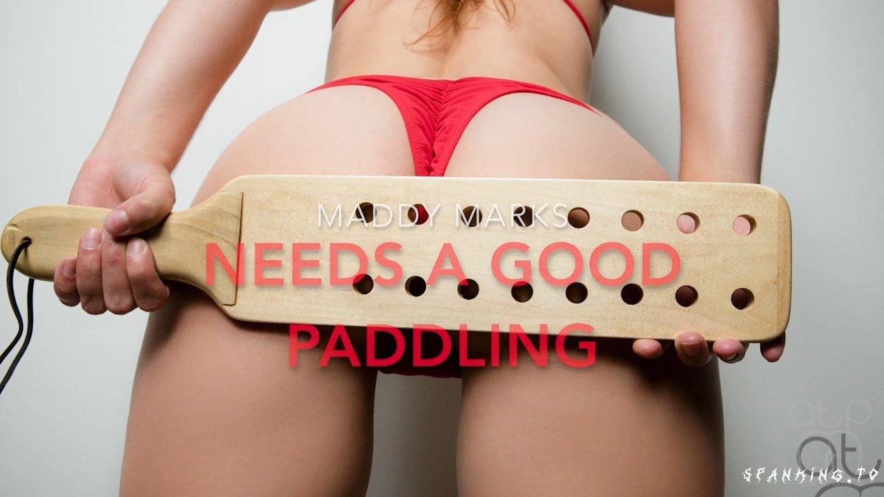 Maddy Marks Needs A Good Bare Bottom Paddling - Assumethepositionstudios - HD/720p